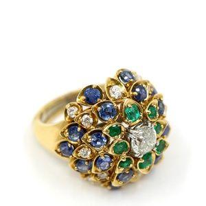 David Webb Antique Tri Colored Ring